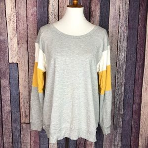 Maurices Heather Grey Stretch Sweater Sweatshirt